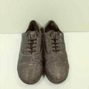 GIANNI BINI Sparkle Oxford Flats Loafer size 7.5M